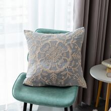 Flower Embroidery Cushion Cover Without Filler