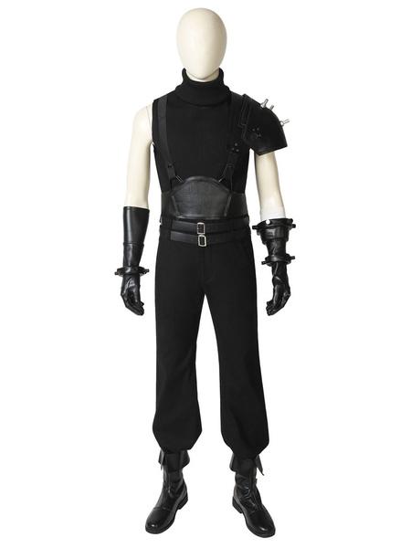 Milanoo Final Fantasy 7 Remake TCloud Strife Halloween Cosplay Costume