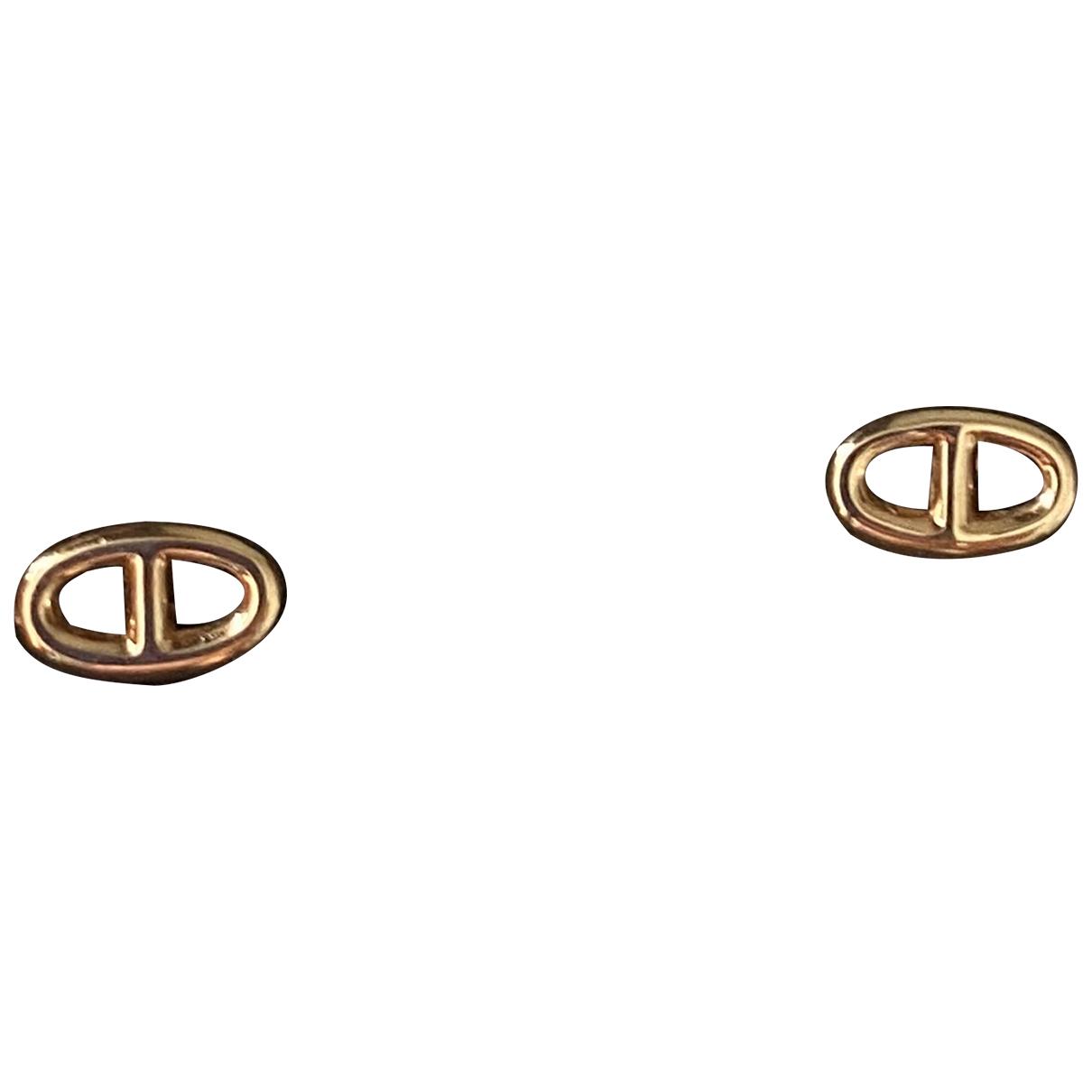 Hermes - Boucles doreilles Chaine dAncre pour femme en or rose
