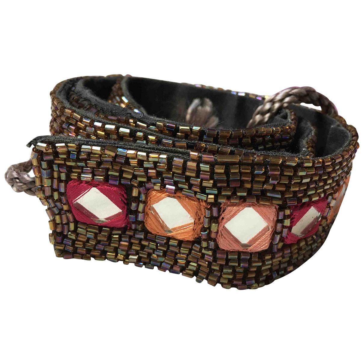 - Ceinture Hippie Chic pour femme en perles - multicolore