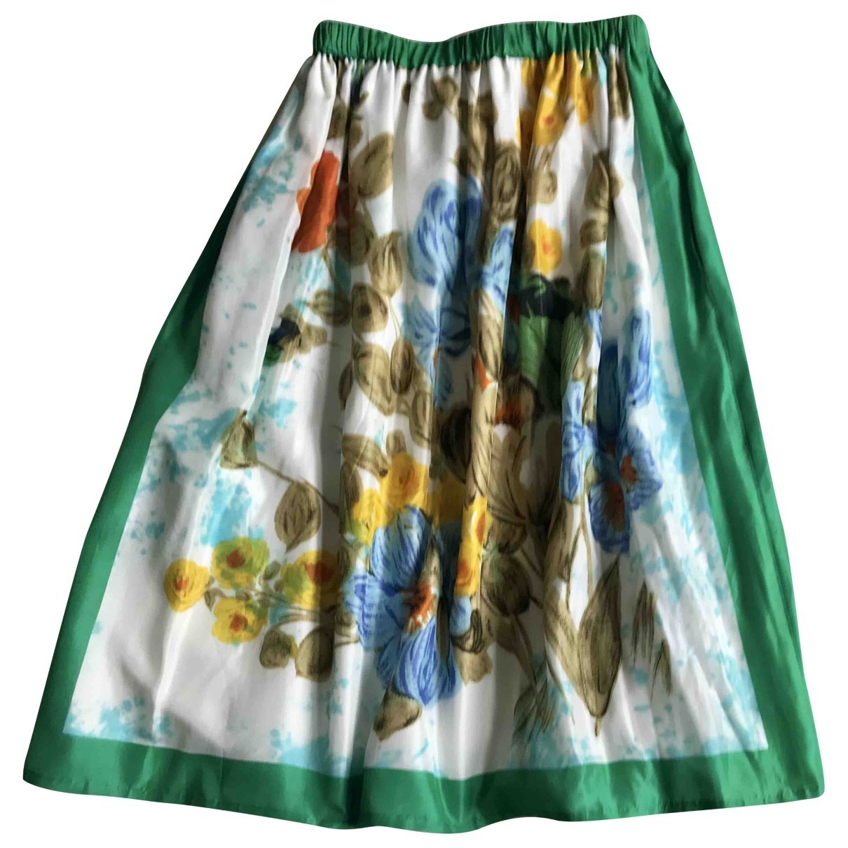 Falda midi de Seda Junya Watanabe