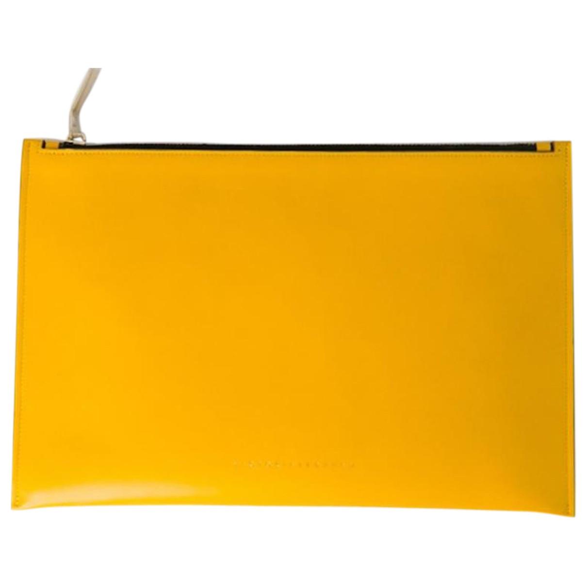 Victoria Beckham \N Clutch in  Gelb Leder