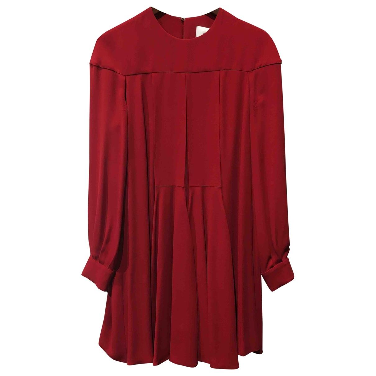 Valentino Garavani \N Red Silk dress for Women 40 FR