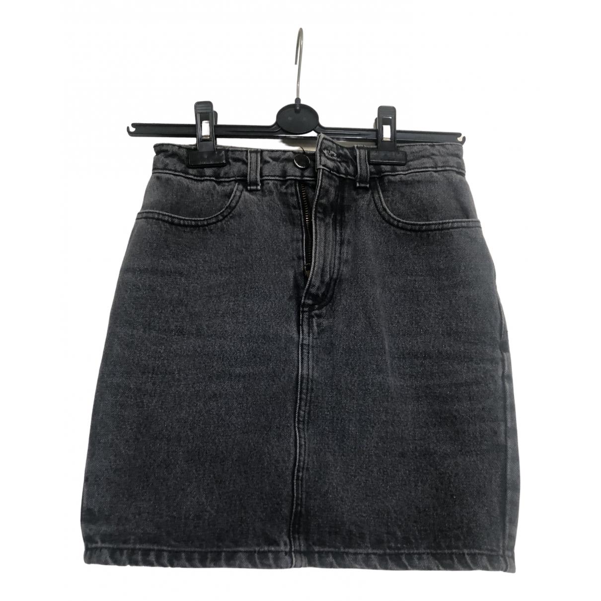 American Apparel - Jupe   pour femme en coton - gris