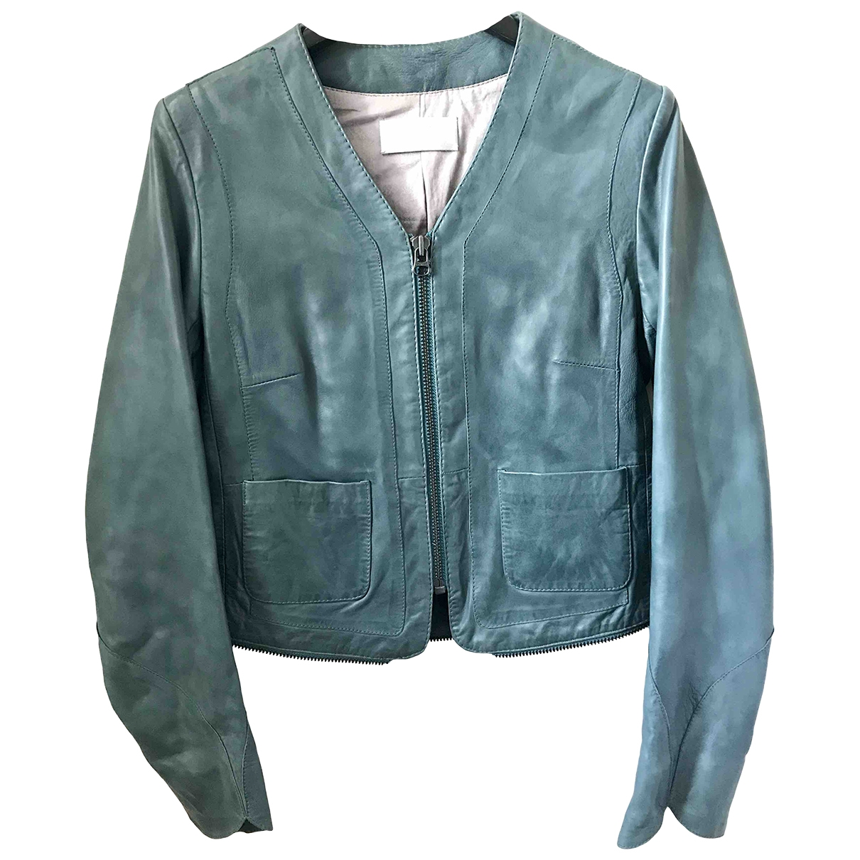 Zadig & Voltaire \N Blue Leather Leather jacket for Women 38 FR