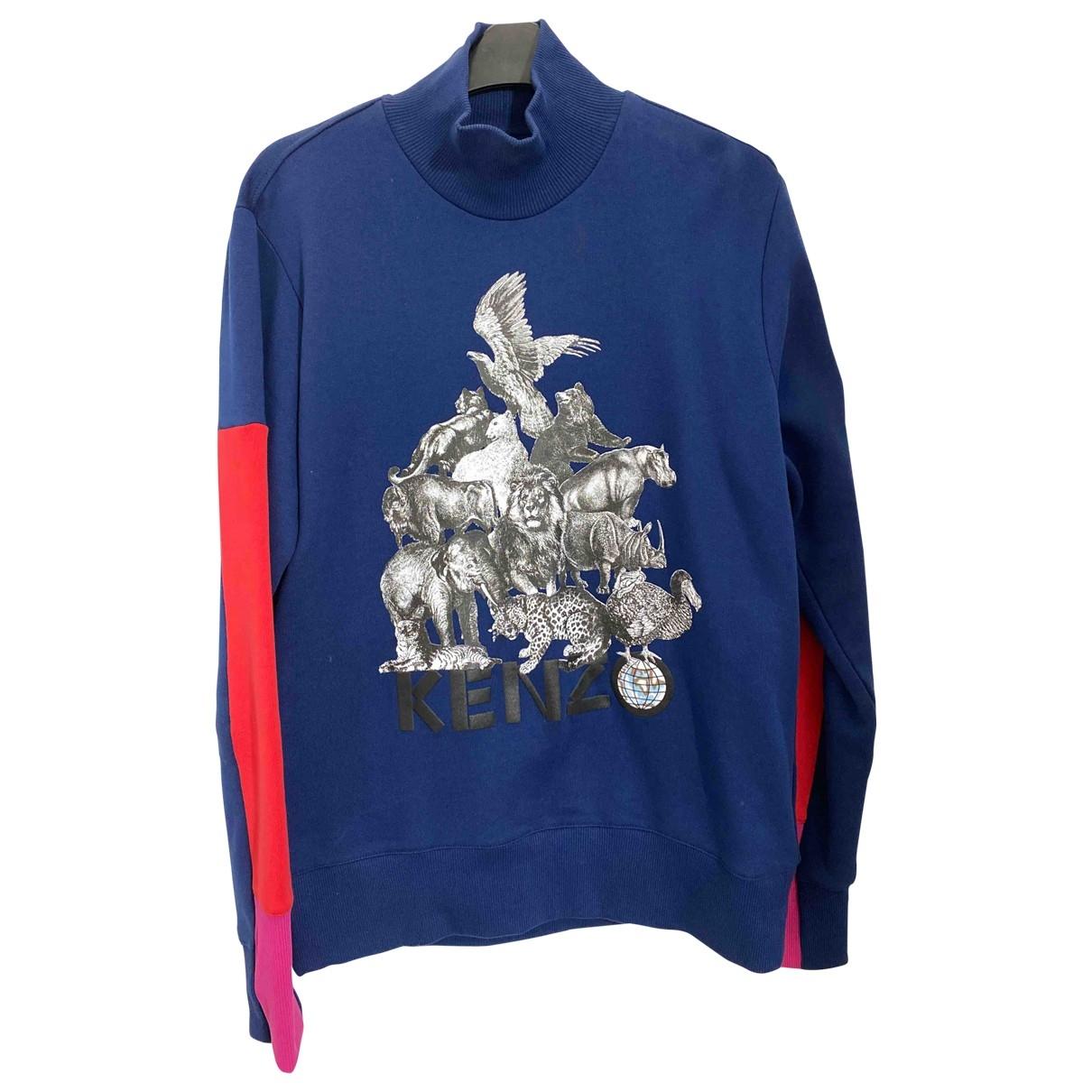 Kenzo \N Pullover.Westen.Sweatshirts  in  Blau Baumwolle
