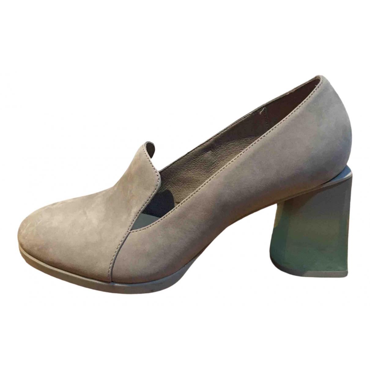 Camper \N Grey Leather Heels for Women 37 EU
