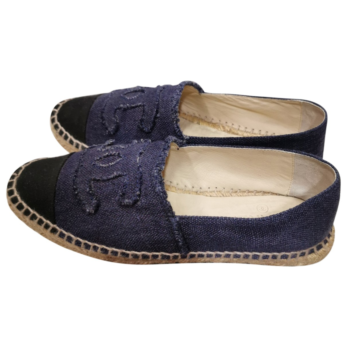 Chanel \N Espadrilles in  Blau Denim - Jeans
