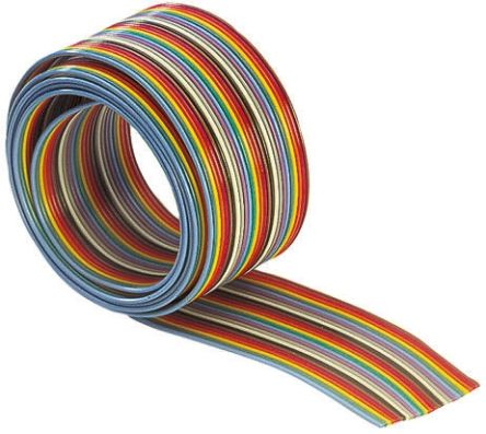 HARTING 20 Way Unscreened Flat Ribbon Cable, 25.13 mm Width, 30m