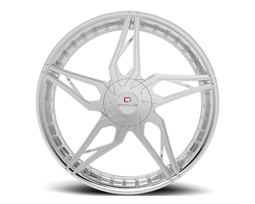 Cavallo CLV-38 Wheel 22x8.5 5x110|5x114.3 38mm Chrome
