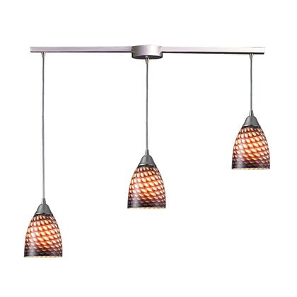 416-3L-C Arco Baleno 3 Light Pendant in Satin Nickel and Coco