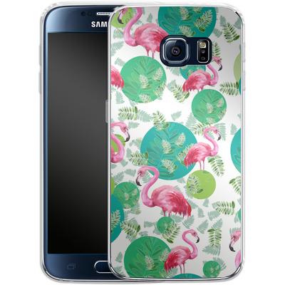 Samsung Galaxy S6 Silikon Handyhuelle - Flamingo Land von Mukta Lata Barua
