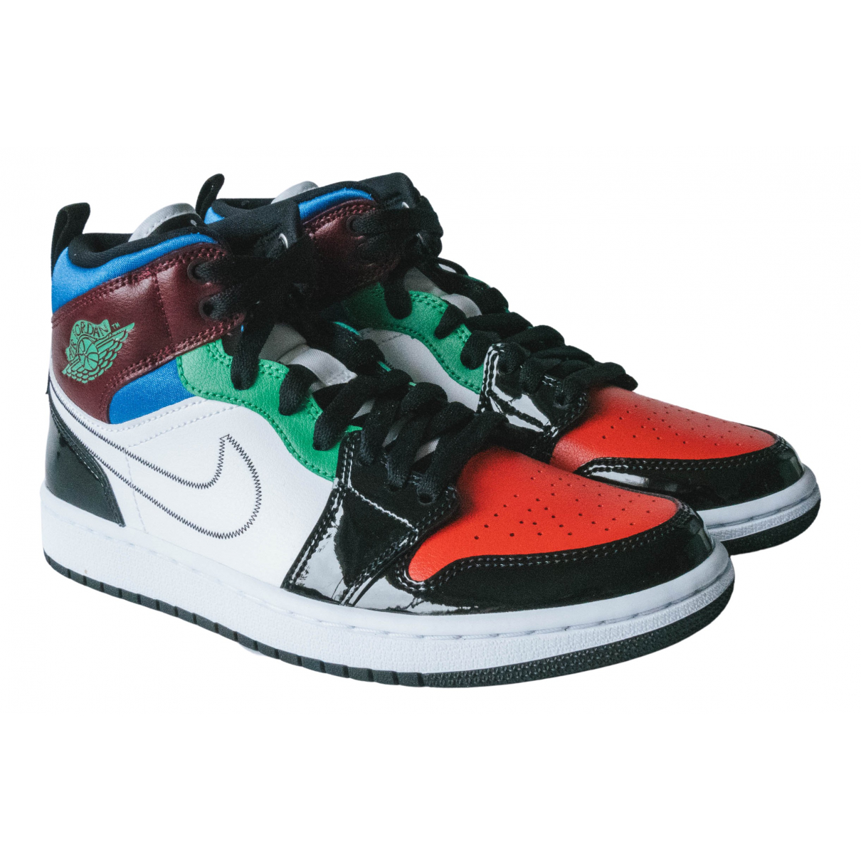Jordan - Baskets Air Jordan 1  pour femme en cuir verni - multicolore