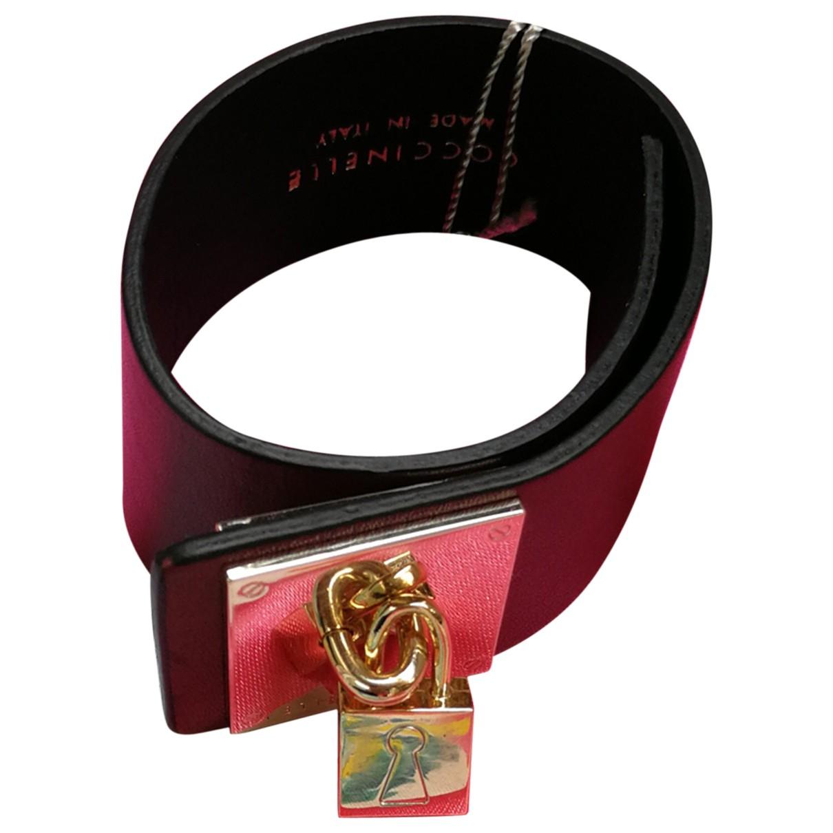 Coccinelle \N Armband in  Bordeauxrot Leder