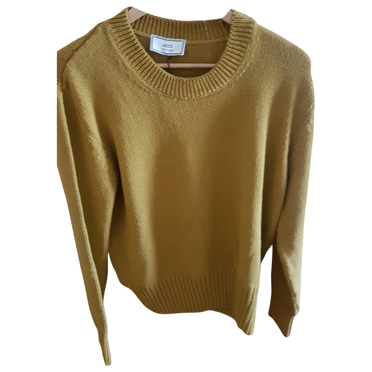 Ami \N Pullover.Westen.Sweatshirts  in  Gelb Baumwolle