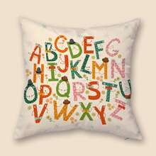 Alphabet Print Cushion Cover Without Filler