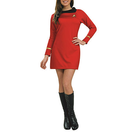 Star Trek Classic Deluxe Red Dress Adult Dress Up Costume Costume, X-small , Multiple Colors