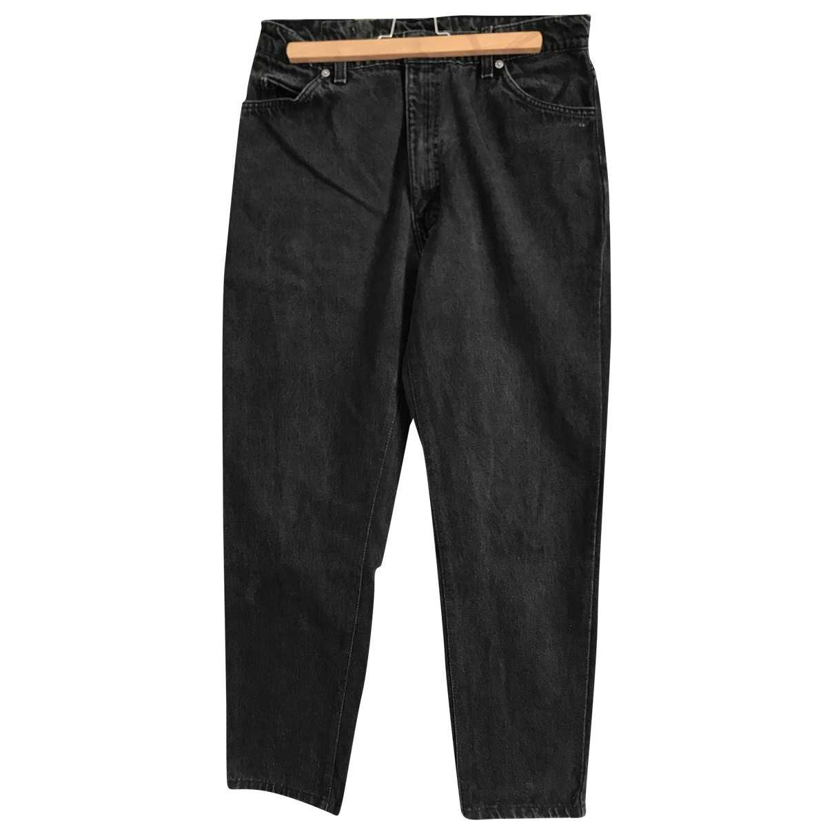 Levi's \N Black Cotton Trousers for Women M International