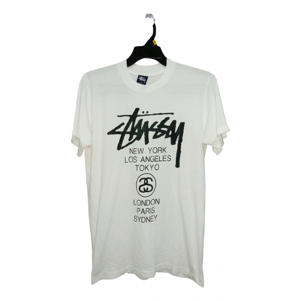 Stussy - Tee shirts   pour homme en coton - blanc