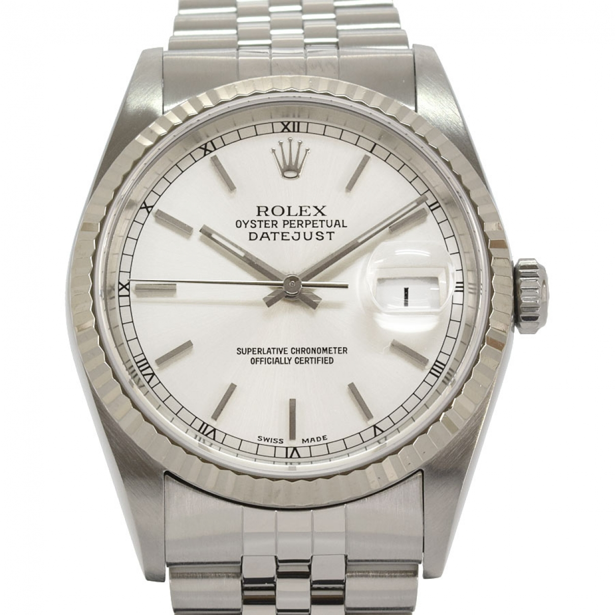 Rolex Datejust 36mm Silver gold and steel watch for Men \N