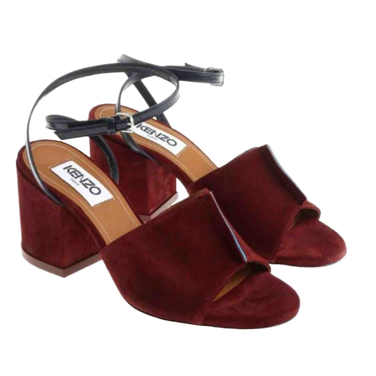 Kenzo \N Burgundy Suede Sandals for Women 38 EU