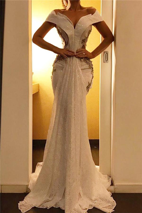 Appliques Mermaid  Sexy Evening Dresses | Off-the-shoulder Formal Dresses