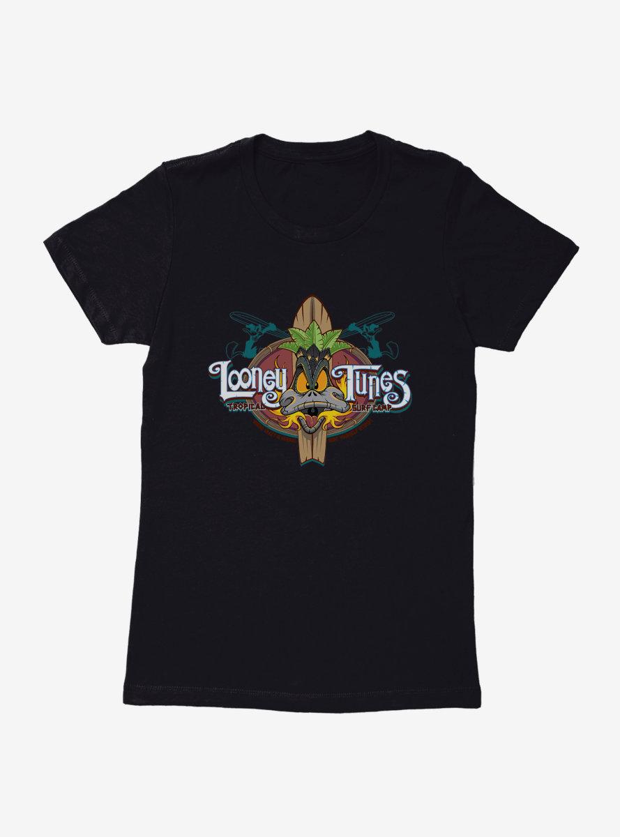Looney Tunes Surf School Daffy Duck Womens T-Shirt