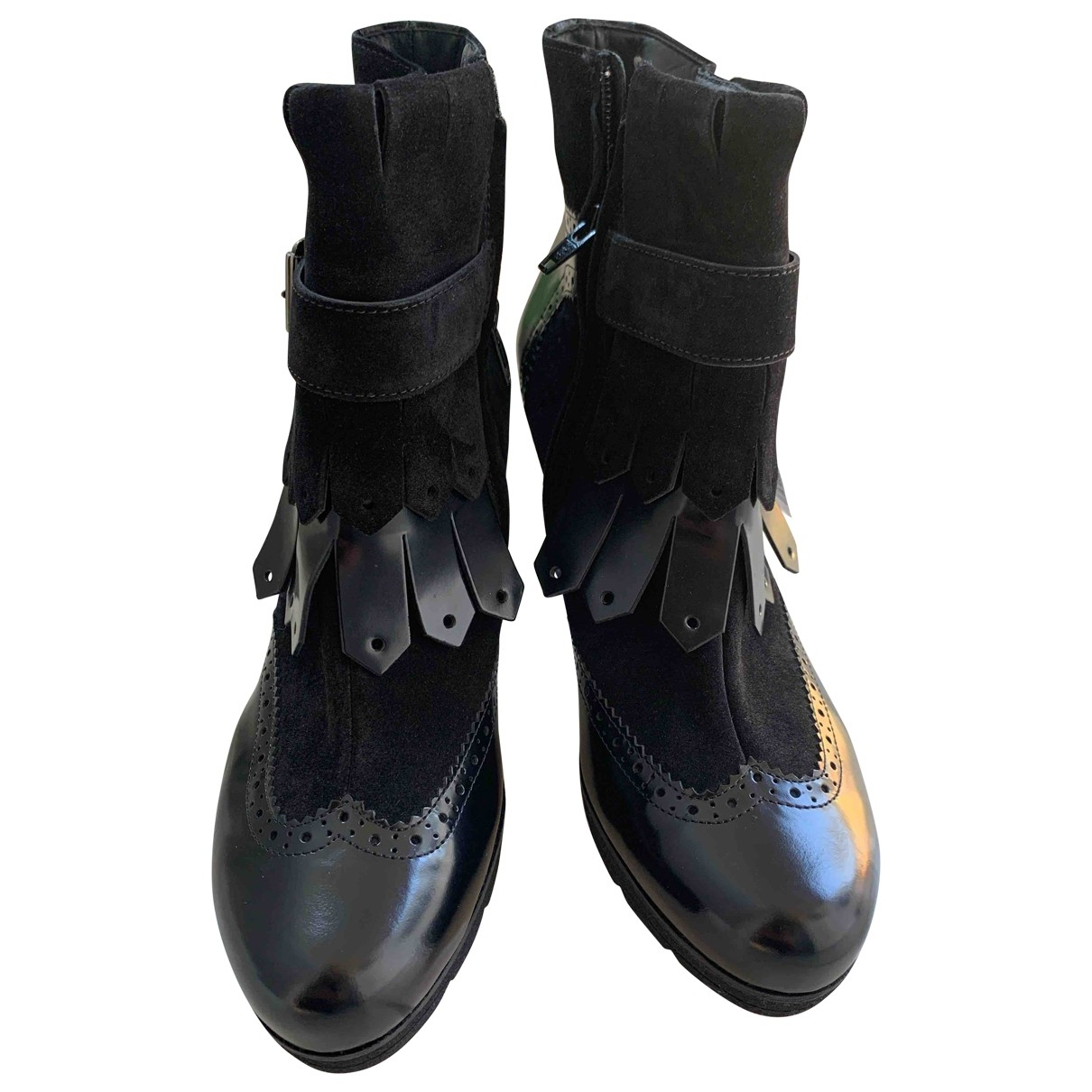 - Boots Hippie Chic pour femme en suede - noir