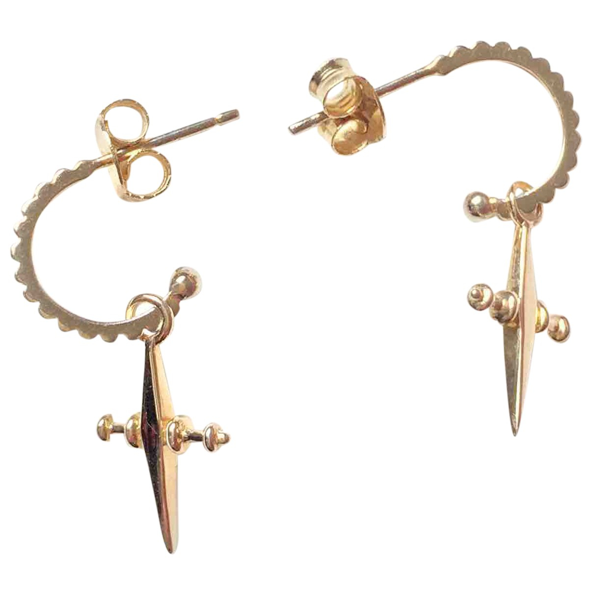 Non Signé / Unsigned Croix Gold Gold plated Earrings for Women N