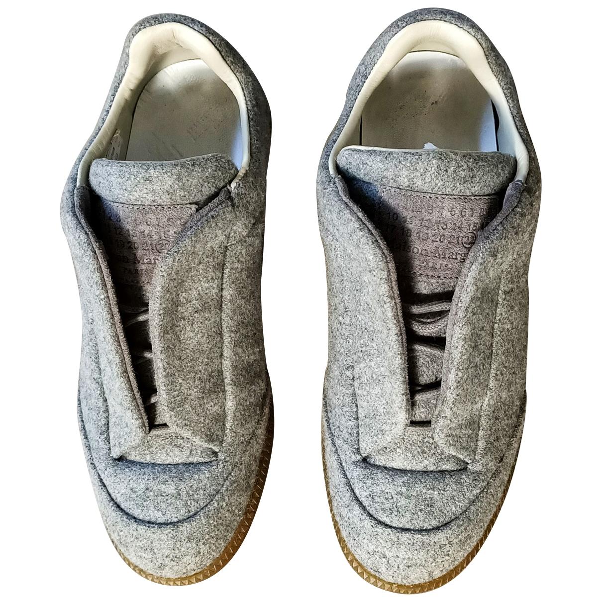 Maison Martin Margiela - Baskets Future pour homme en toile - gris