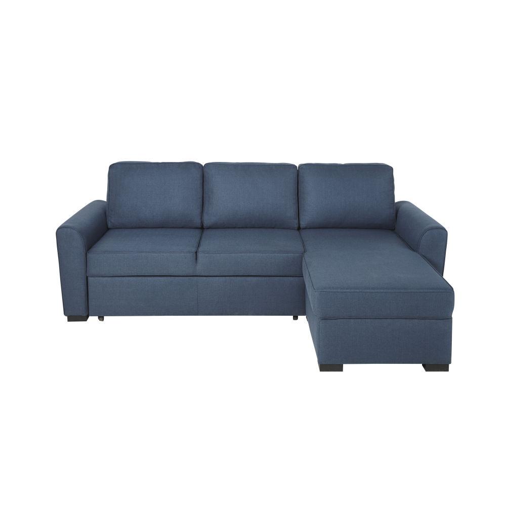 3/4-Sitzer-Eckschlafsofa nachtblau Montreal