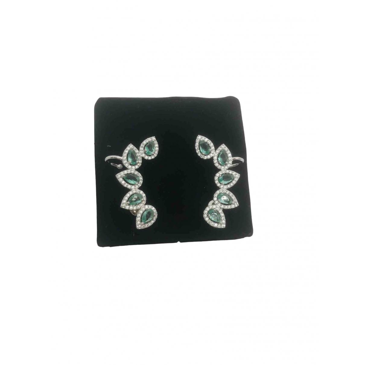 No Collection - Boucles doreilles   pour femme en plaque or - argente