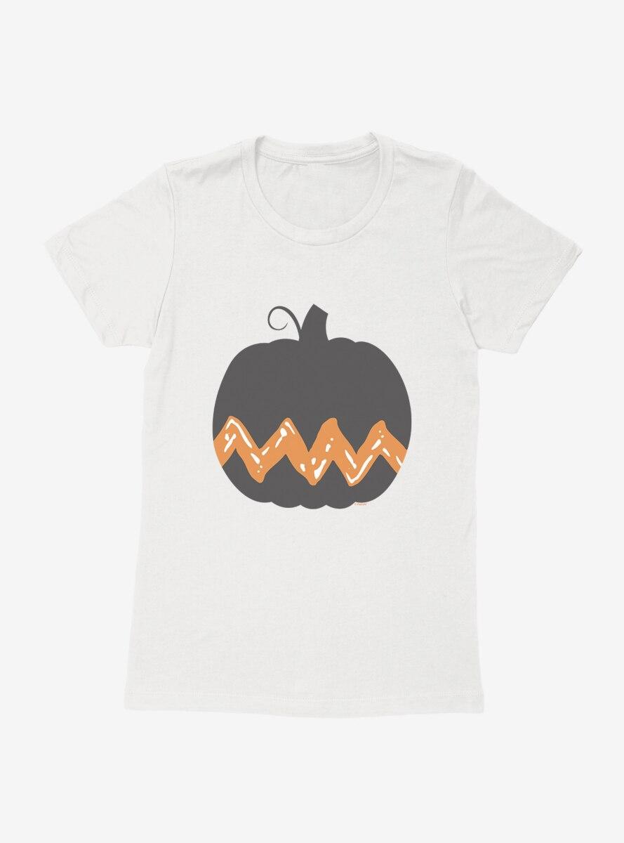 Peanuts Halloween Charlie Brown Pumpkin Womens T-Shirt