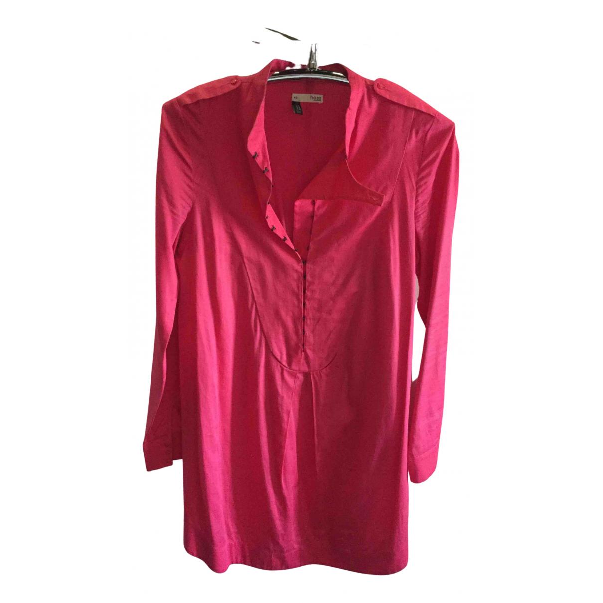 Hoss Intropia \N Kleid in  Rosa Baumwolle