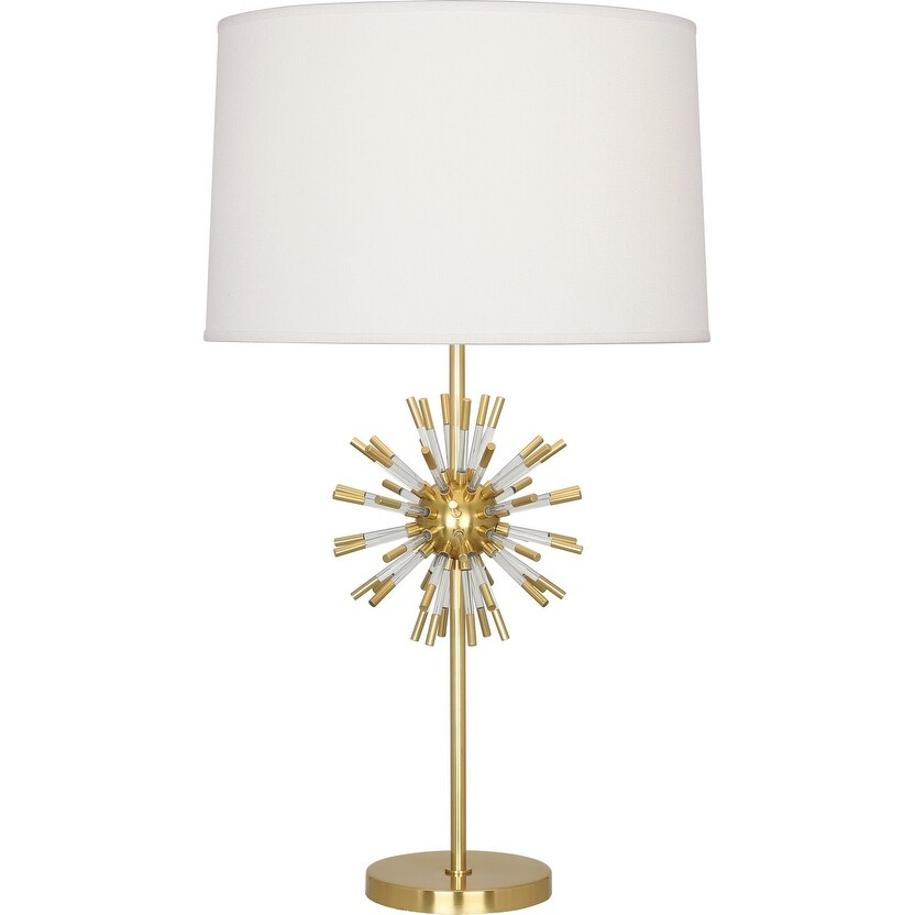 Robert Abbey 1201 One Light Table Lamp Andromeda Modern Brass w/ Clear Acrylic - One Size (One Size - Clear)