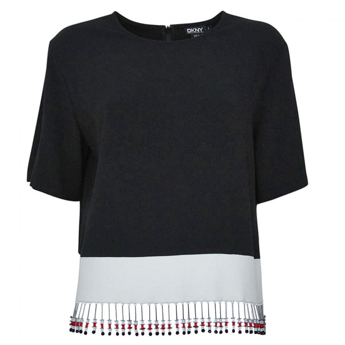 Donna Karan - Pull   pour femme en coton - noir