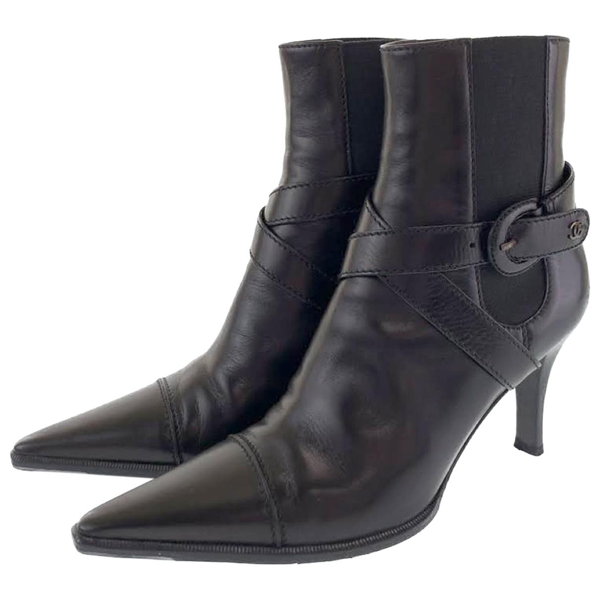 Chanel - Bottes   pour femme en cuir