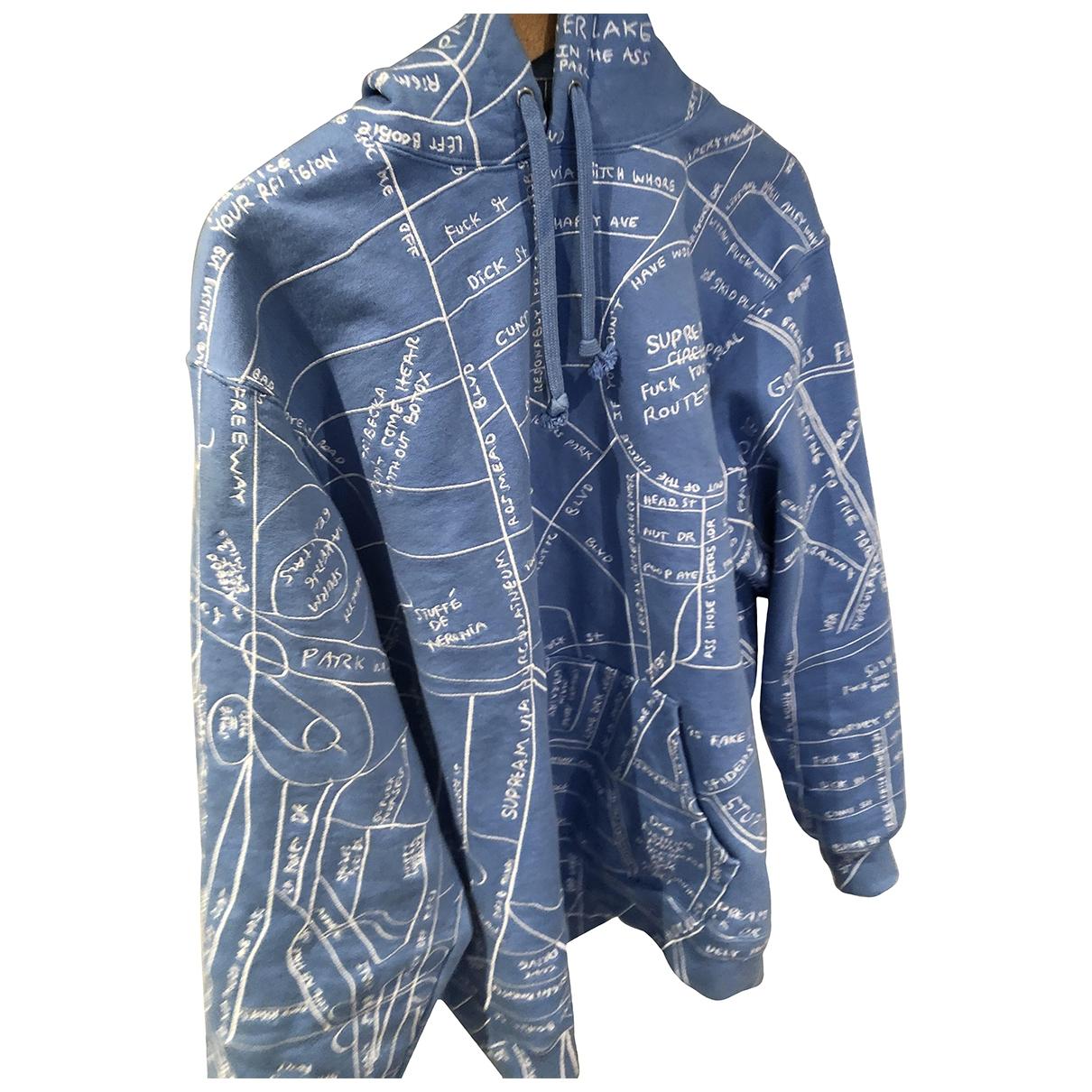 Supreme - Pulls.Gilets.Sweats   pour homme en coton - bleu