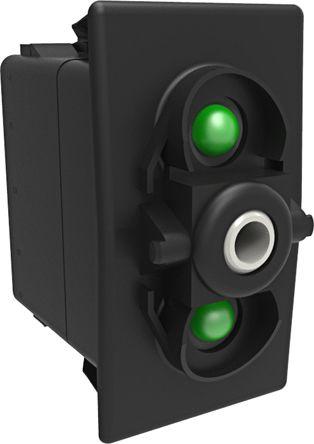 Carling Technologies Illuminated Double Pole Single Throw (DPST), On-Off-On Rocker Switch Panel Mount