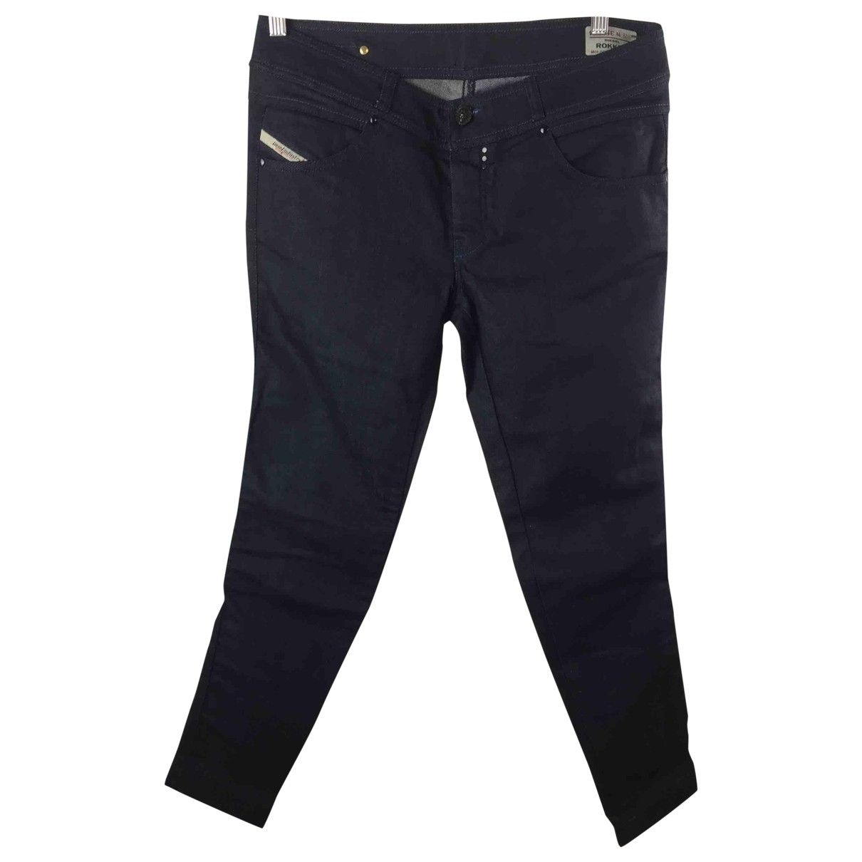 Diesel \N Blue Cotton Trousers for Women 46 IT