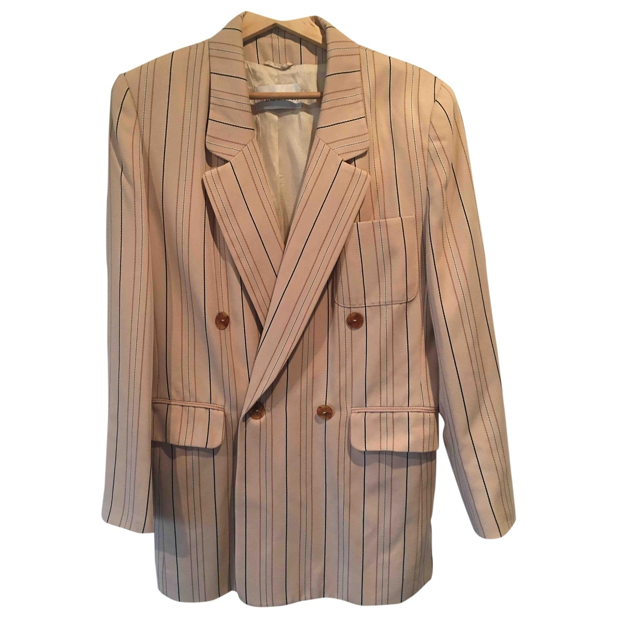 Non Signé / Unsigned Oversize Beige jacket for Women 10 UK