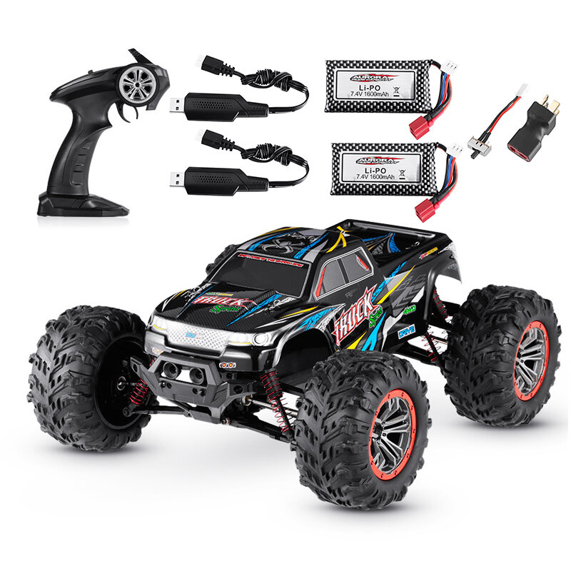XINLEHONG Toys 9125 1:10 2.4G 4WD Brushed High Speed Off-road RC Car RTR - Two Batteries