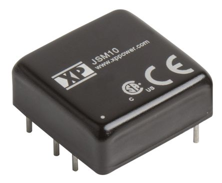 XP Power JSM10 10W Isolated DC-DC Converter Through Hole, Voltage in 36 → 75 V dc, Voltage out ±12V dc