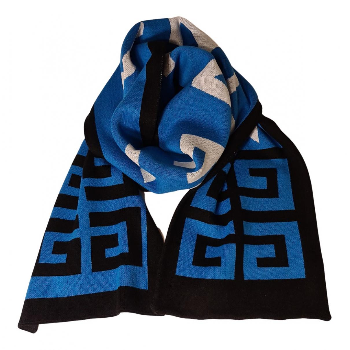 Givenchy N Blue Cotton scarf & pocket squares for Men N