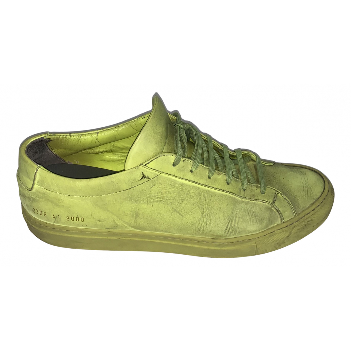 Common Projects \N Sneakers in  Gelb Leder
