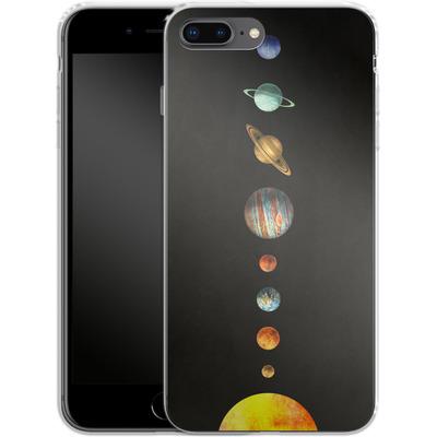 Apple iPhone 8 Plus Silikon Handyhuelle - Solar System von Terry Fan