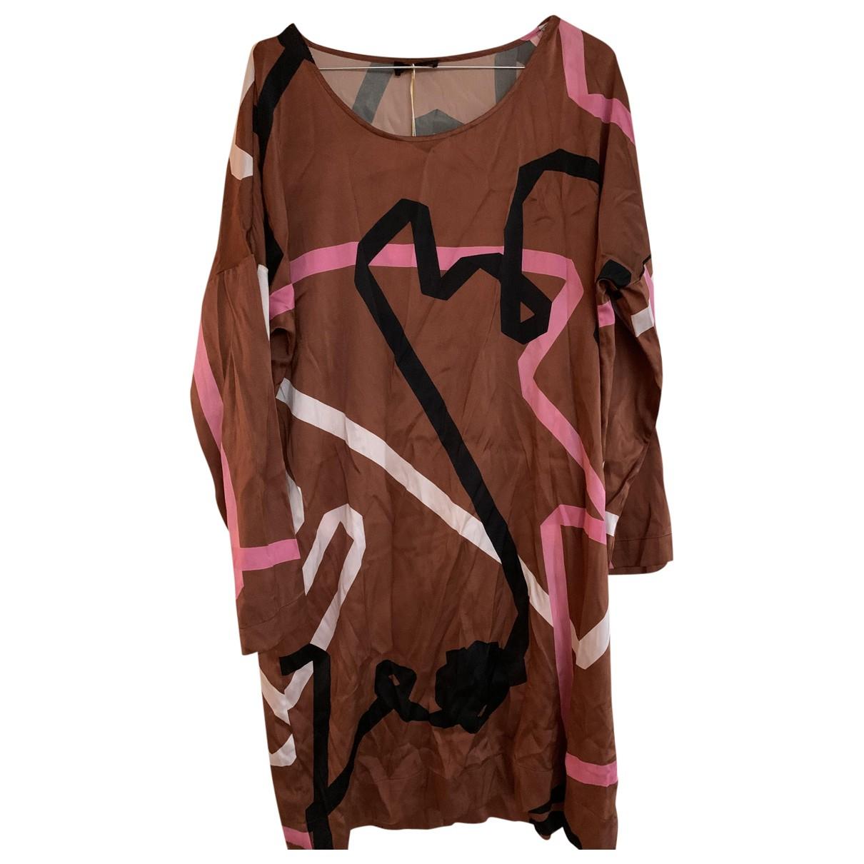 Stine Goya - Robe   pour femme en soie - marron
