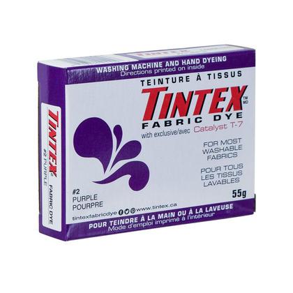 Tissu Teinture Tissu Dye Tintex Marque Pour La plupart des Tissus Lavables Pourpre 55g 1Pc