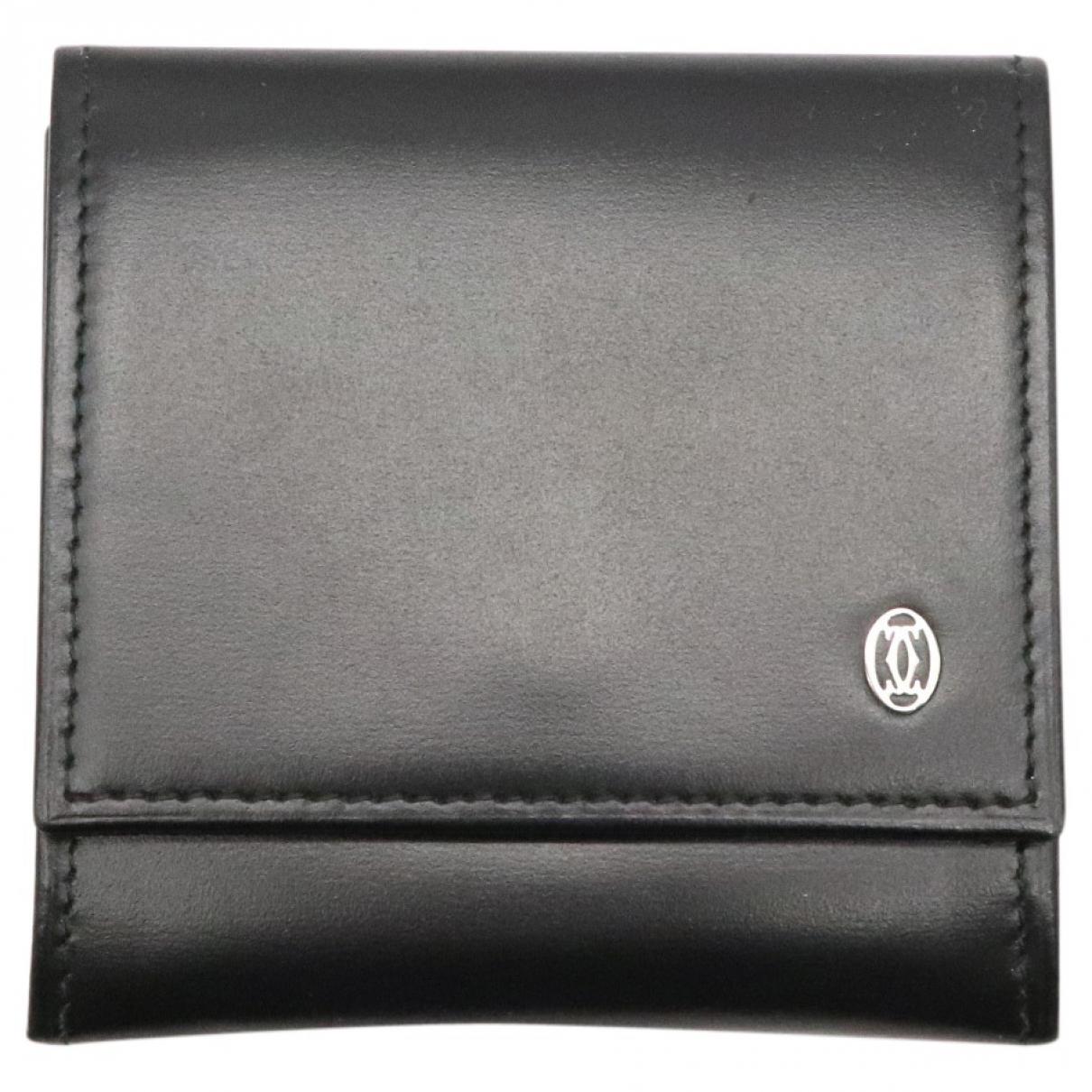 Cartier \N Portemonnaie in  Schwarz Leder