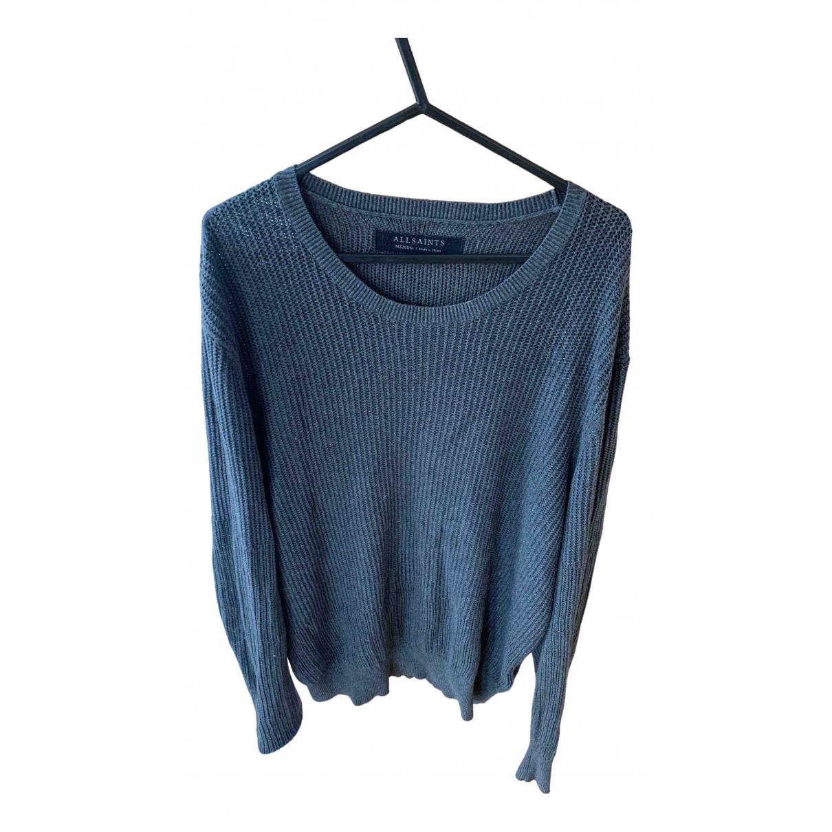 All Saints \N Pullover.Westen.Sweatshirts  in  Anthrazit Baumwolle